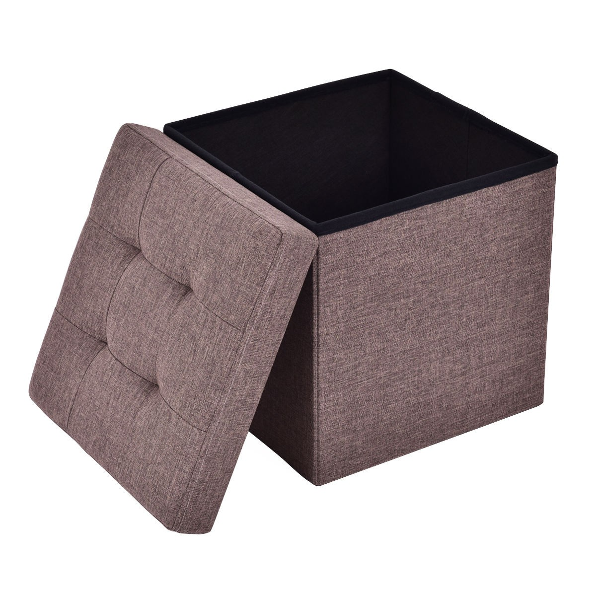 Stools and Ottomans | Leather Storage Cube Ottoman | Storage Cube Ottoman