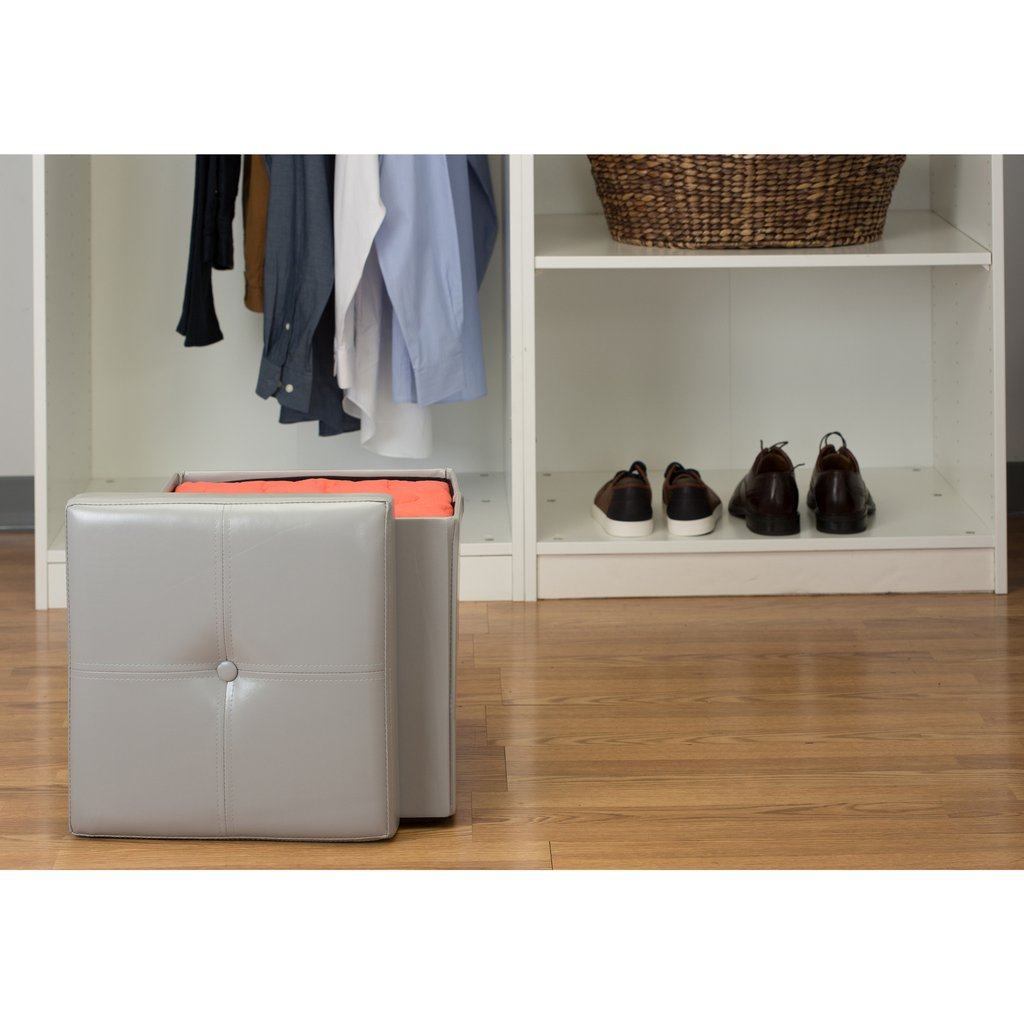 Stools and Ottomans | Storage Cube Ottoman | Padded Storage Box