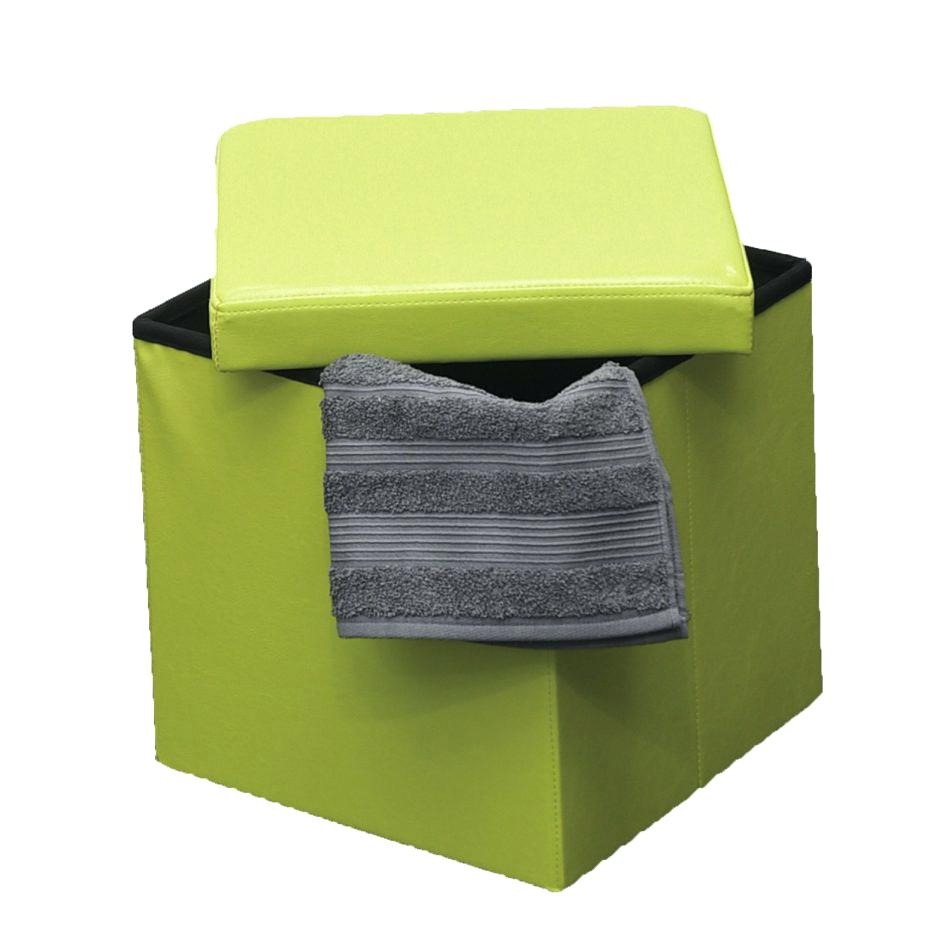 Storage Cube Ottoman | Hassocks with Storage | Upholstered Storage Cube