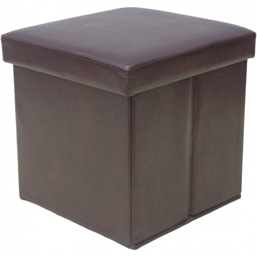 Storage Cube Ottoman | Leather Storage Cube Ottoman | Ottoman Storage Cube