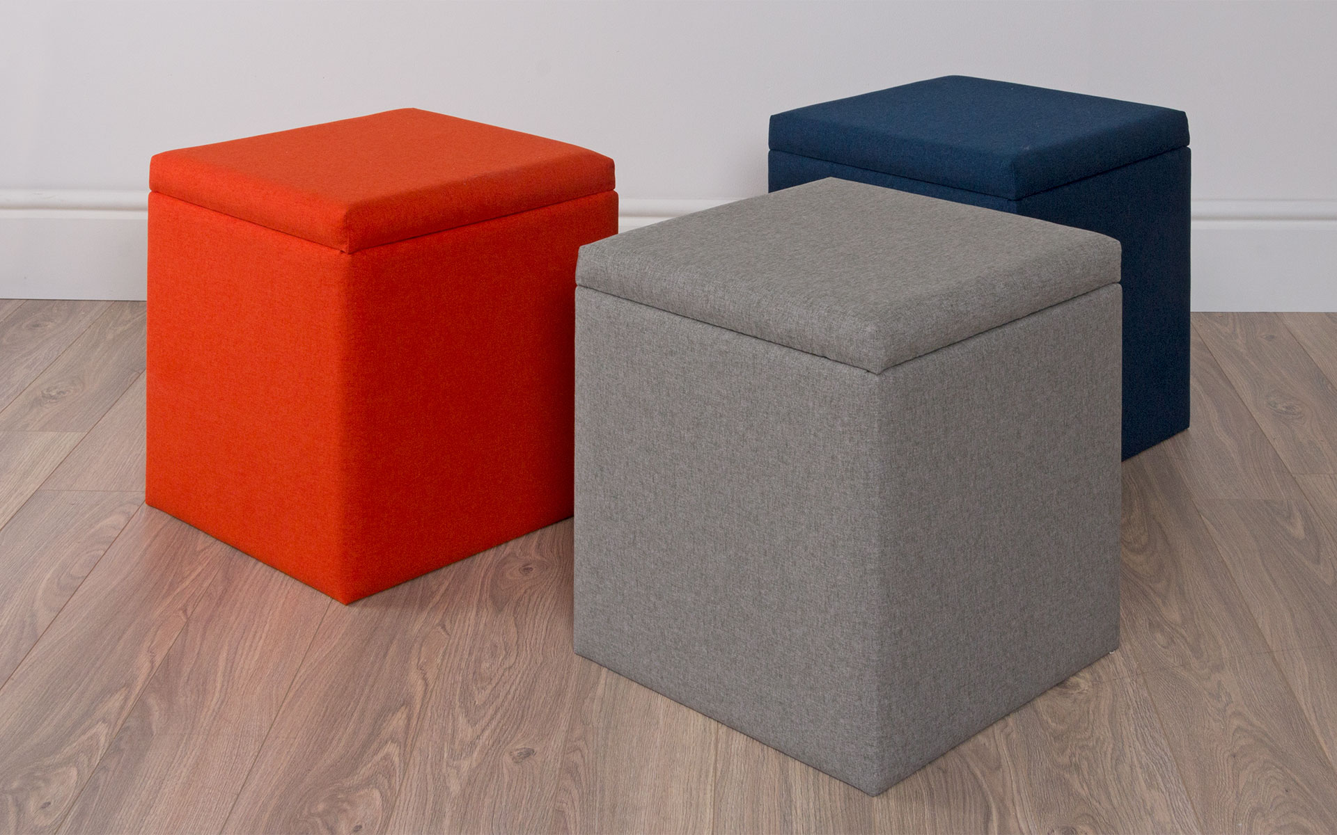 Storage Cube Ottoman | Long Ottoman with Storage | Footrest with Storage