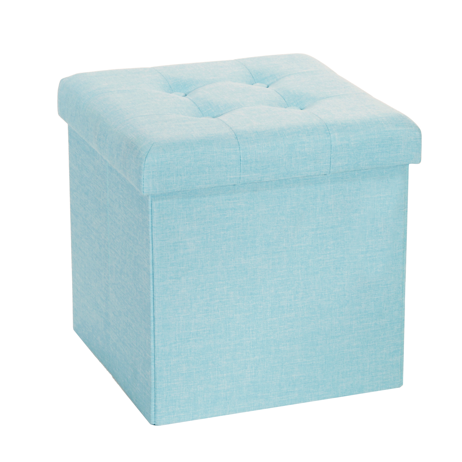 Storage Cube Ottoman | Ottoman Footrest Storage | Padded Storage Box