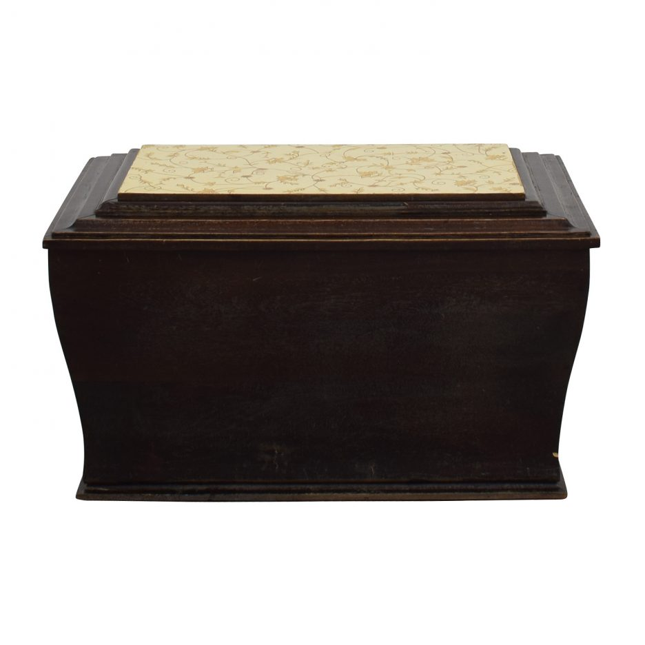 Storage Cube Ottoman | Round Footstool with Storage | Small Footstool Ottoman