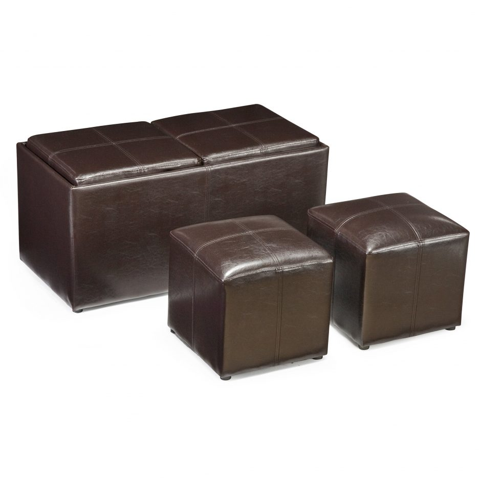 Storage Cube Ottoman | Storage Cube Ottoman | Leather Storage Ottomans Sale