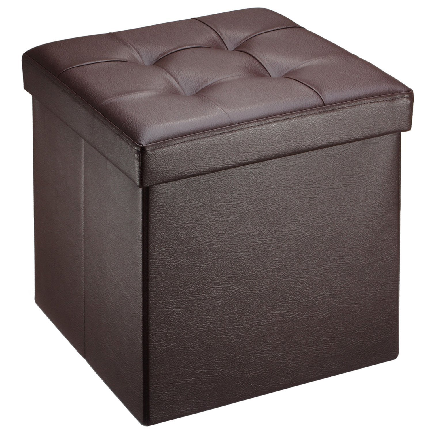 Storage Cube Ottoman | Studded Storage Ottoman | Leather Cube Footstool