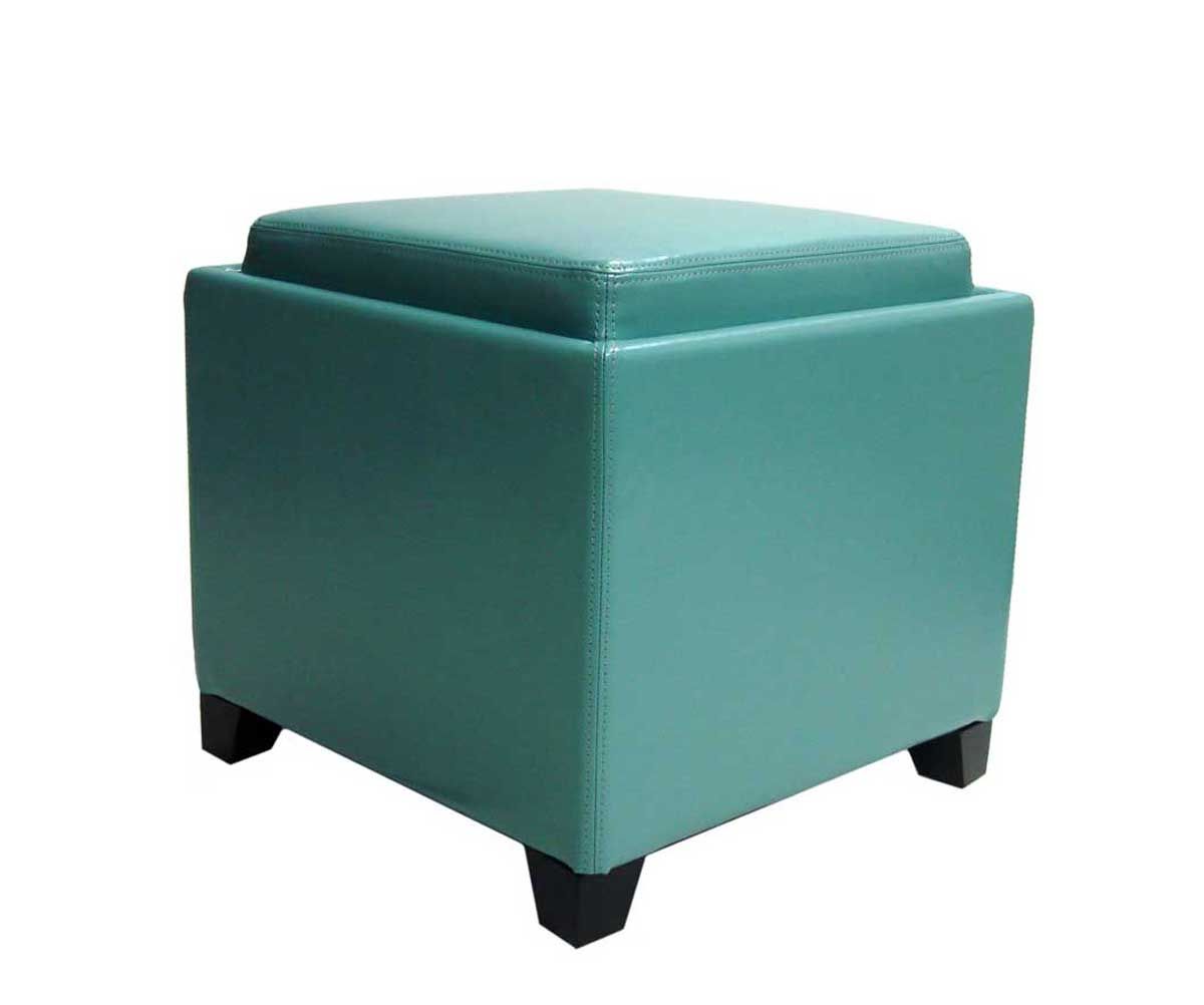 Storage Ottoman Cube with Tray | Cube Foot Stool | Storage Cube Ottoman
