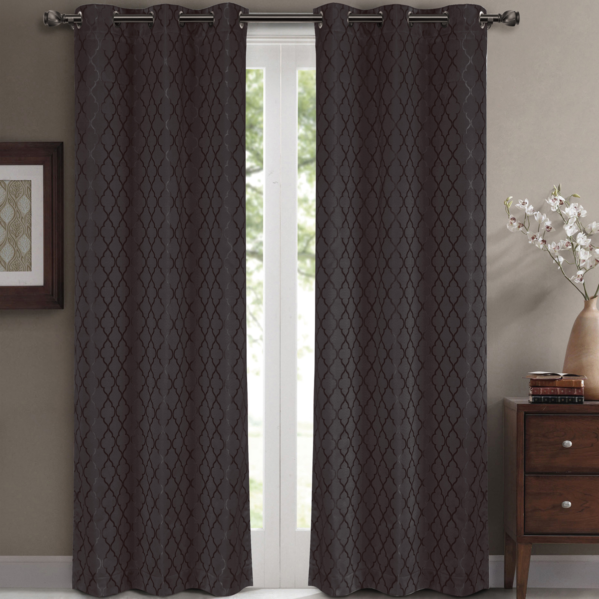 Striped Thermal Curtains | Thermal Insulated Curtains | Insulated Drapery Panels