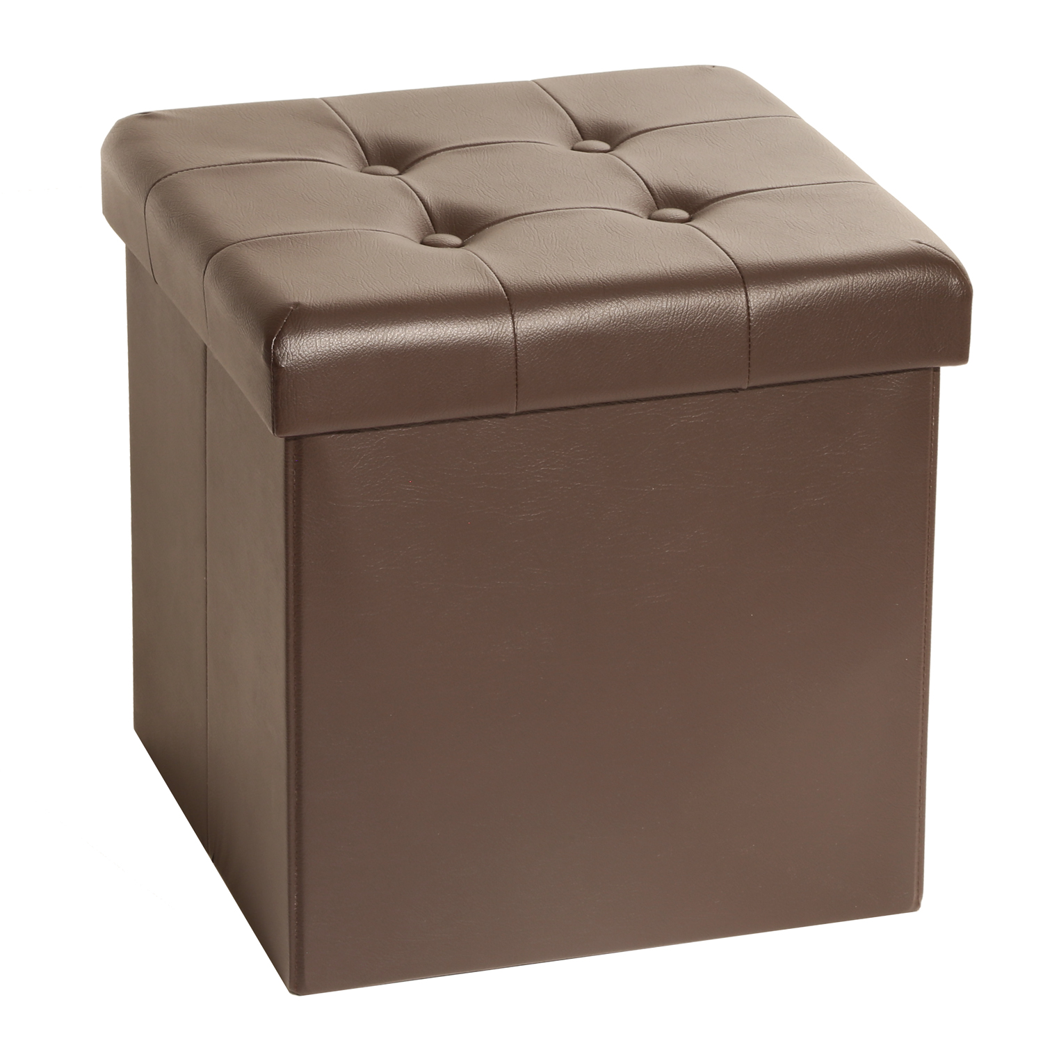 Studded Storage Ottoman | Leather Storage Cube Ottoman | Storage Cube Ottoman