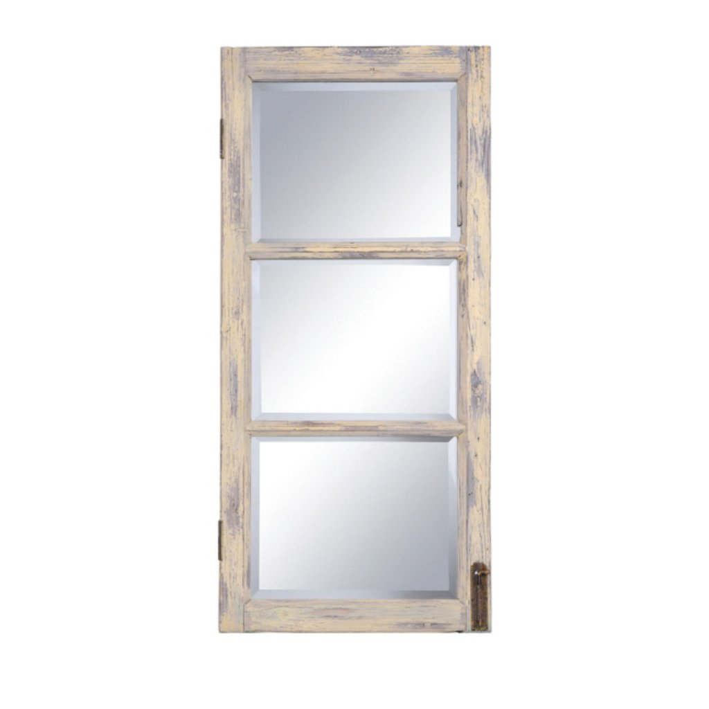 Sun Mirror Wall Decor | Window Pane Wall Mirror | Windowpane Mirror