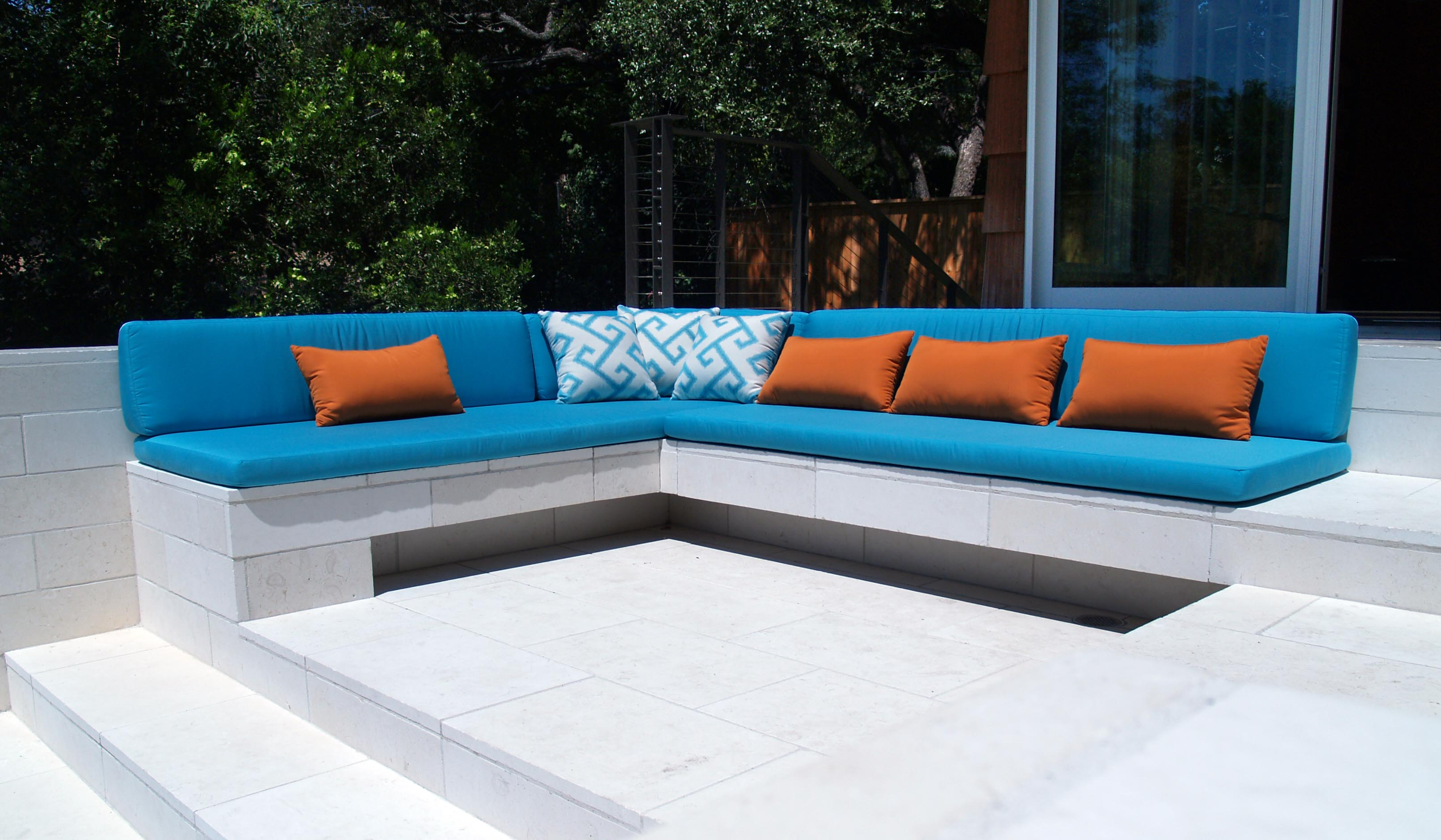 Cushion: Soft Bench Design Ideas With Sunbrella Seat Cushions ...