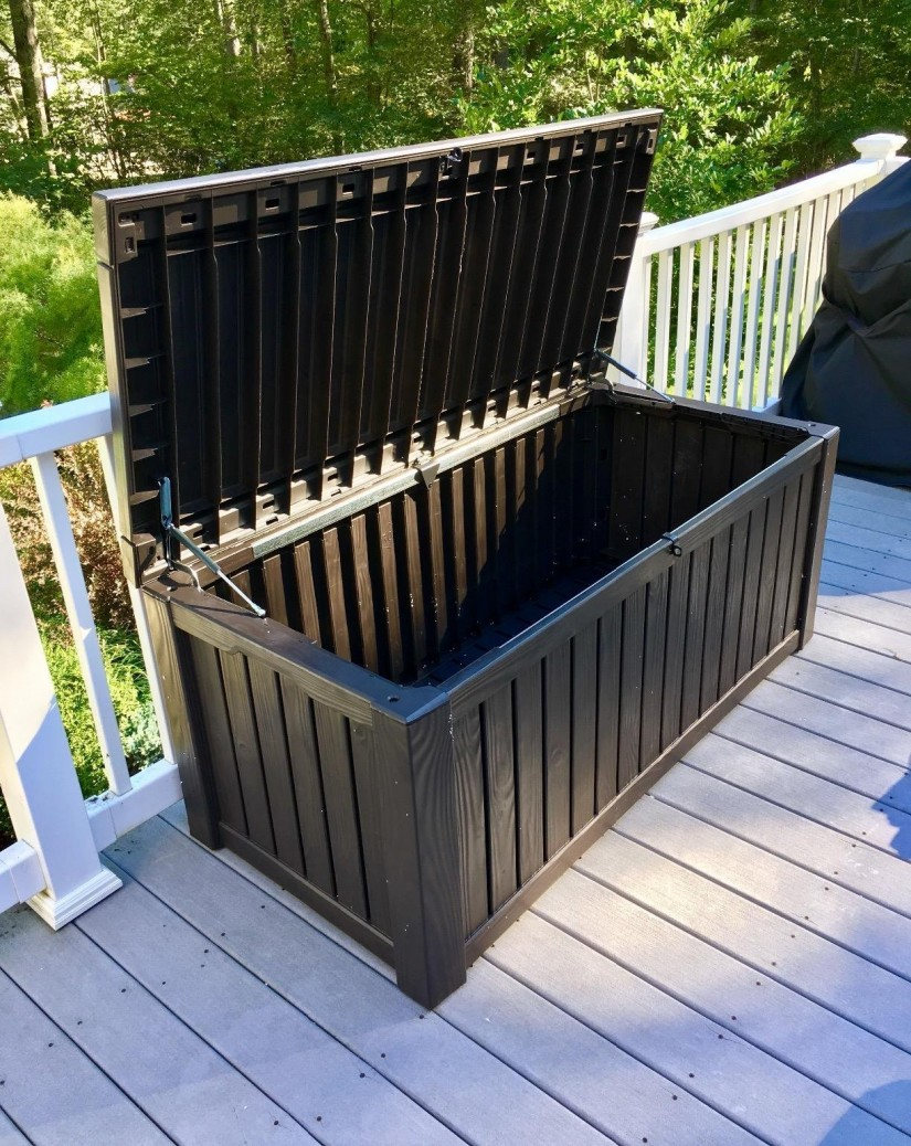 Suncast Outdoor Storage Bench | Keter 150 Gallon Deck Box | Keter Deck Box 150