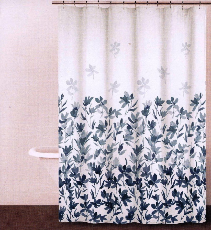 Tapestry Shower Curtain | Floral Shower Curtain | Floral Fabric Shower Curtains