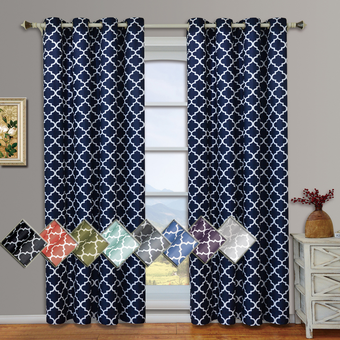 Teen Bedroom Curtains | Ruffle Blackout Curtains | Sheer Polka Dot Curtains