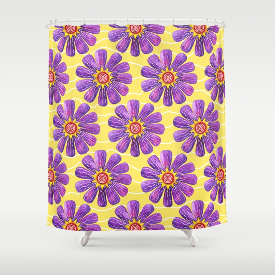 Threshold Shower Curtain | Floral Shower Curtain | Bright Floral Shower Curtain