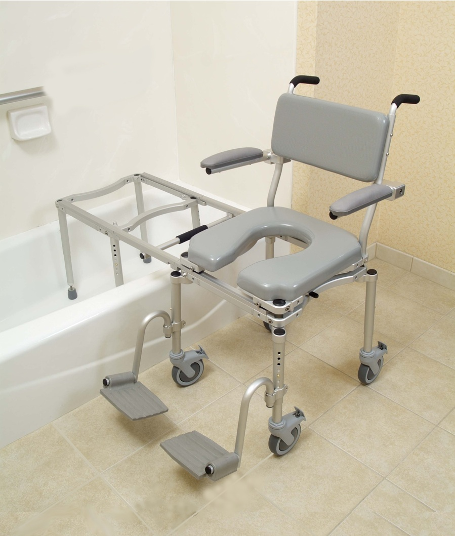 Transfer Tub Bench | Handicap Shower Transfer Bench | Transfer Bath Bench with Back
