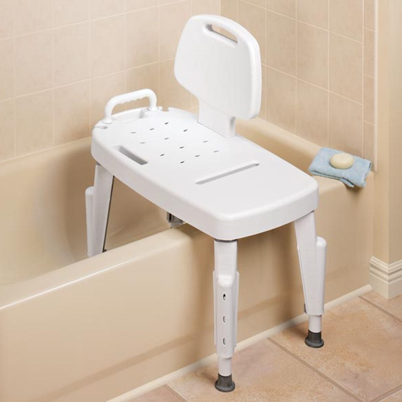 Transfer Tub Bench | Shower Sliding Transfer Bench | Adjustable Transfer Bench
