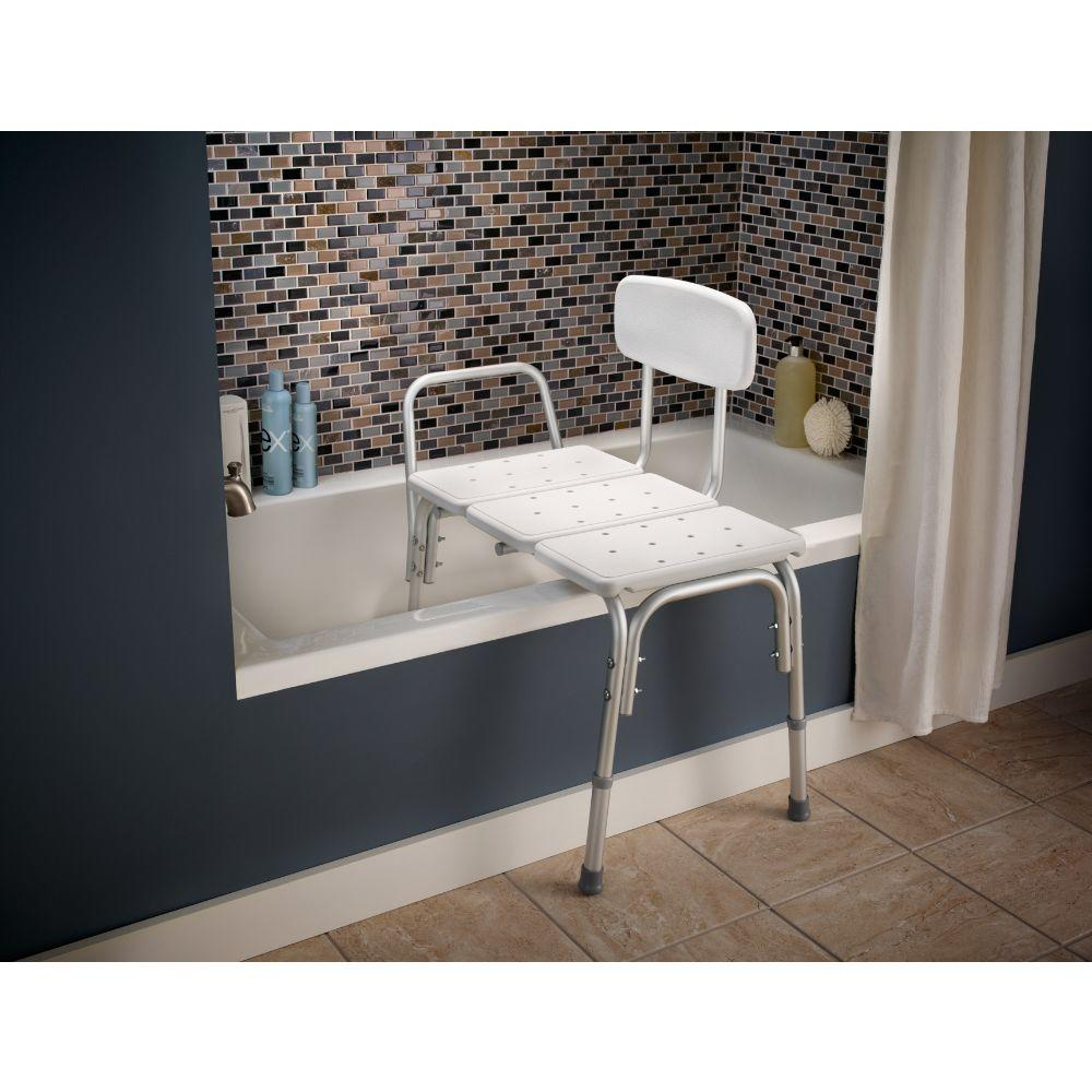 Transfer Tub Bench | Tub Transfer Bench with Sliding Seat | Removable Shower Seat