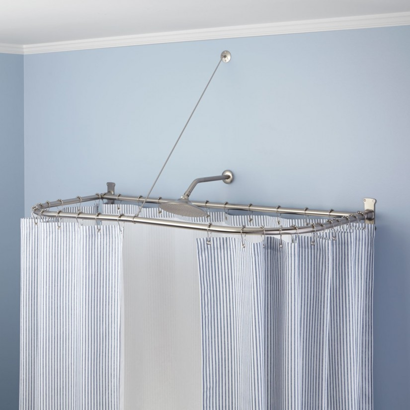 Tub Shower Curtain Rod | Clawfoot Tub Shower Curtain | Claw Foot Tub Shower Curtain