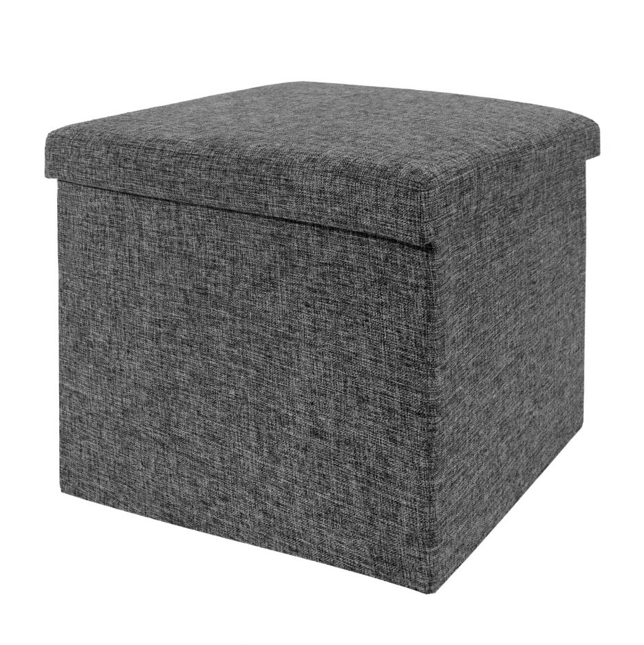 Upholstered Ottoman Cube | Storage Cube Ottoman | Small Leather Ottoman Cube