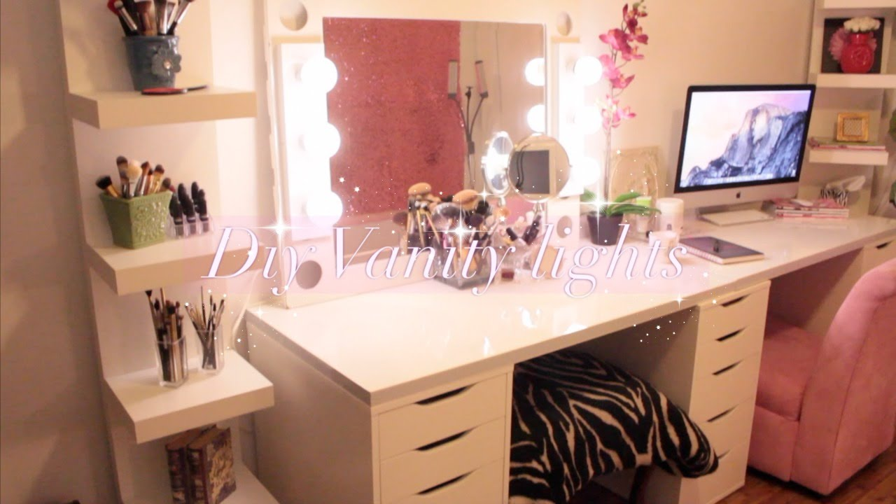 Vanity Desk Mirror with Lights | Lighted Vanity Makeup Mirror | Hollywood Vanity Mirror with Lights
