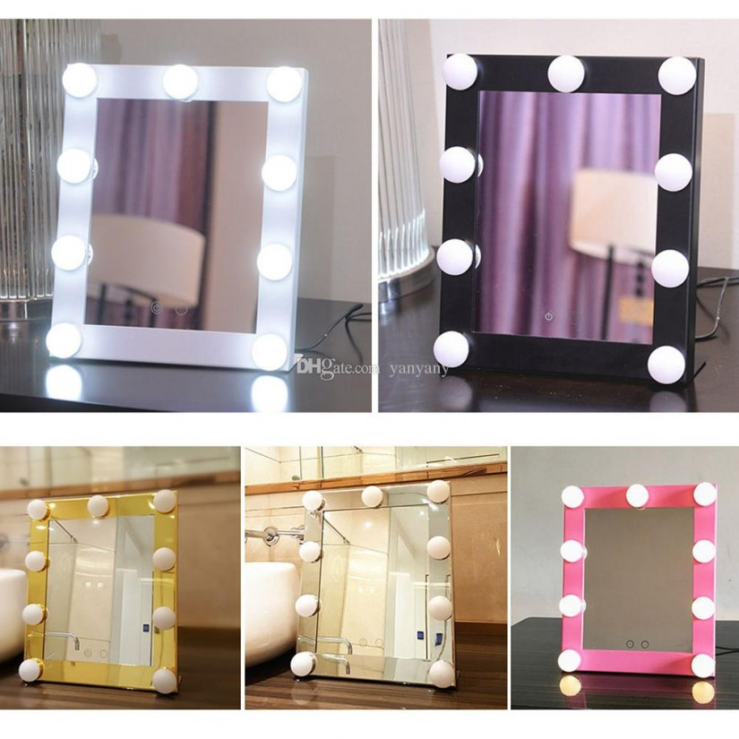 Vanity Girl Hollywood Broadway Mirror | Hollywood Vanity Mirror With Lights | Old Hollywood Vanity Mirror