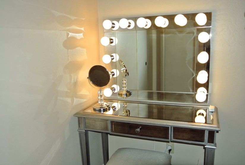 Vanity Mirrors With Lights Makeup | Hollywood Vanity Mirror With Lights | Vanity Girl Hollywood Lighted Mirror