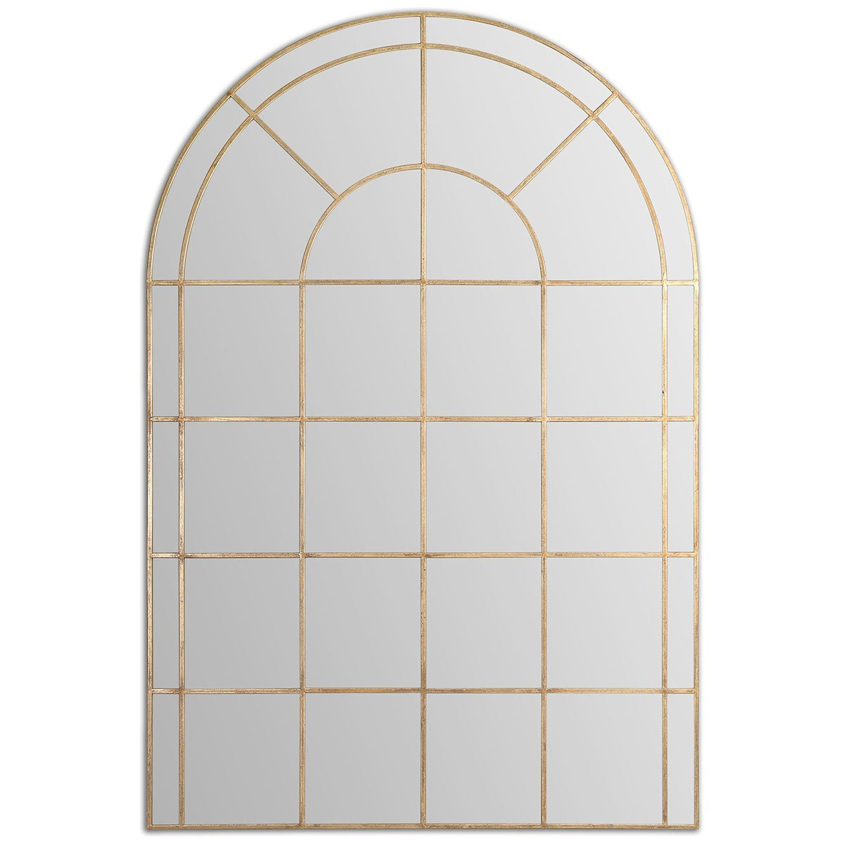 Wall Mirror with Shutters | Windowpane Mirror | Arched Window Pane Mirror