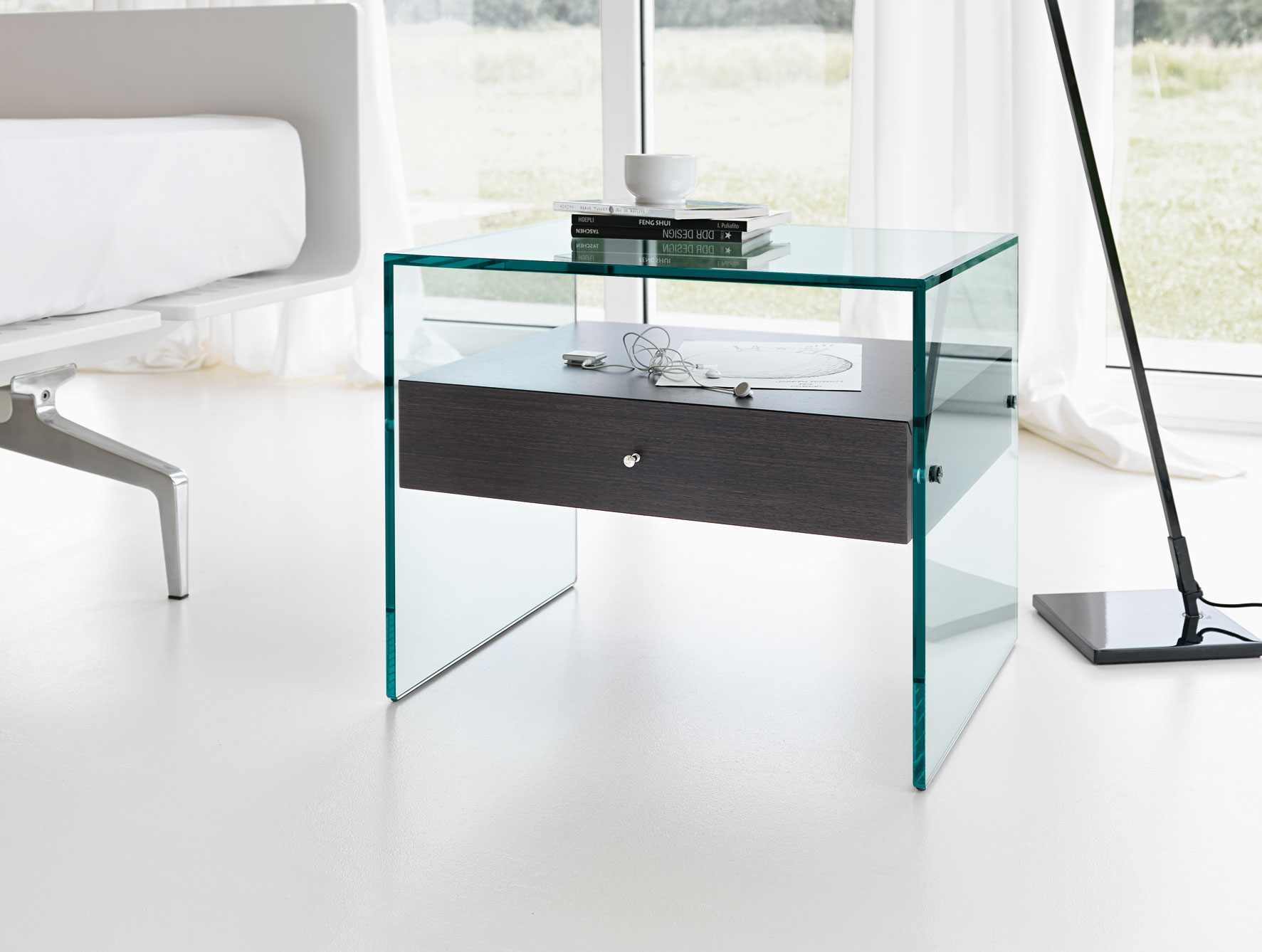 Wall Mounted Night Stands | Overstock Mirrored Nightstand | Modern Bedside Tables