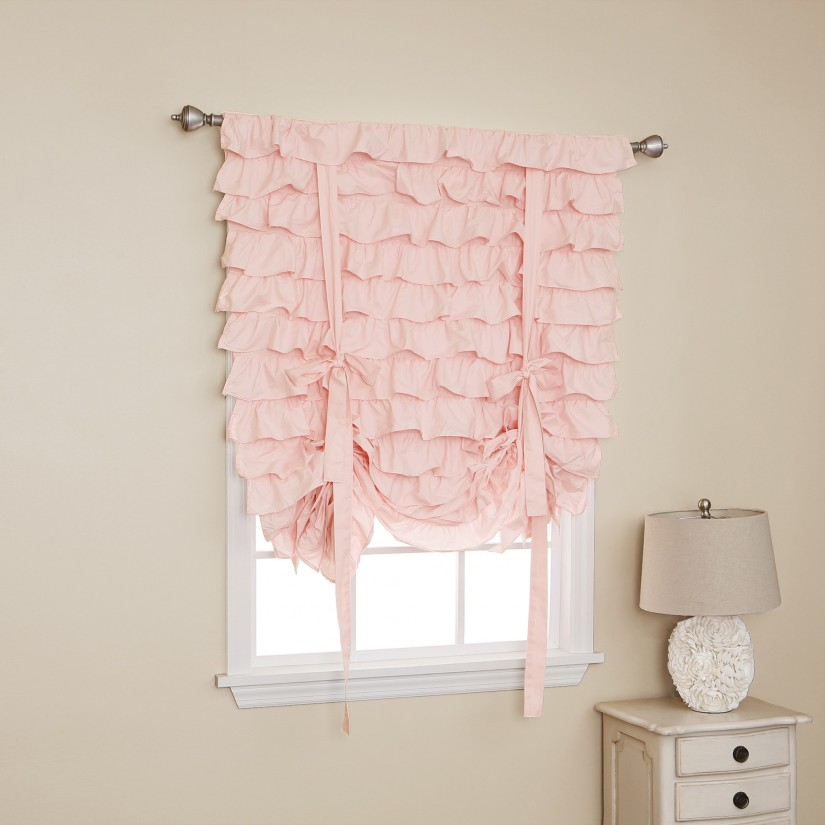 White Ruffle Curtain Panel | Childrens Bedroom Blackout Curtains | Ruffle Blackout Curtains