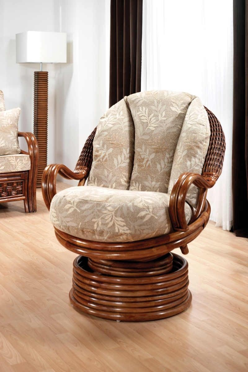Wicker Gliders | Rattan Swivel Rocker | Rocking Papasan Chair