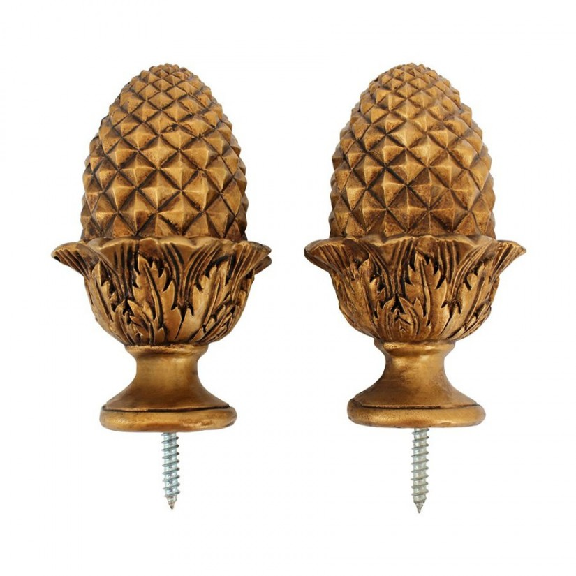Window Rods And Finials | Decorative Curtain Rods And Finials | Finials For Curtain Rods