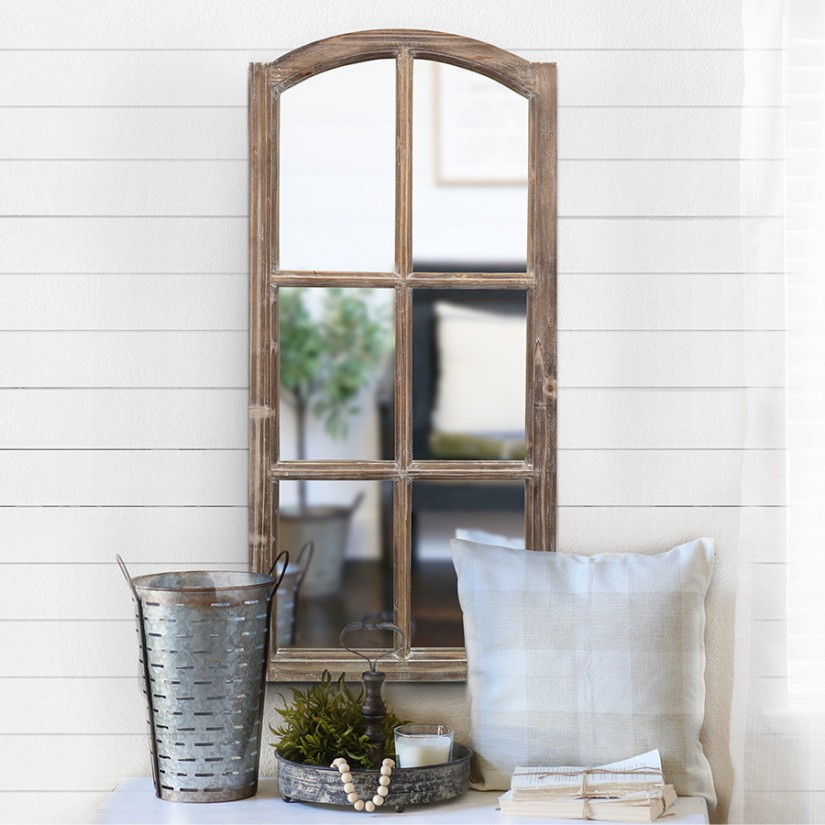 Windowpane Mirror | Mirror Pane Glass | Oversized Wall Mirror