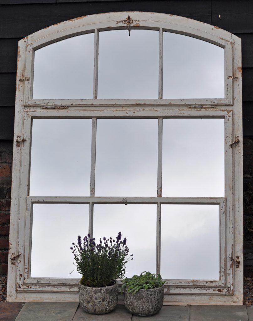 Windowpane Mirror | Purple Wall Mirror | Arched Window Pane Mirror