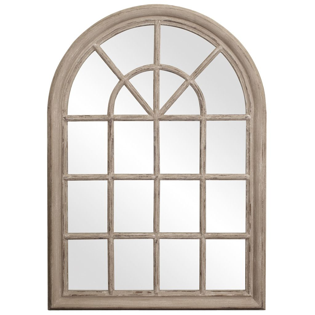 Windowpane Mirror | White Window Pane Mirror | 30 Inch Mirror