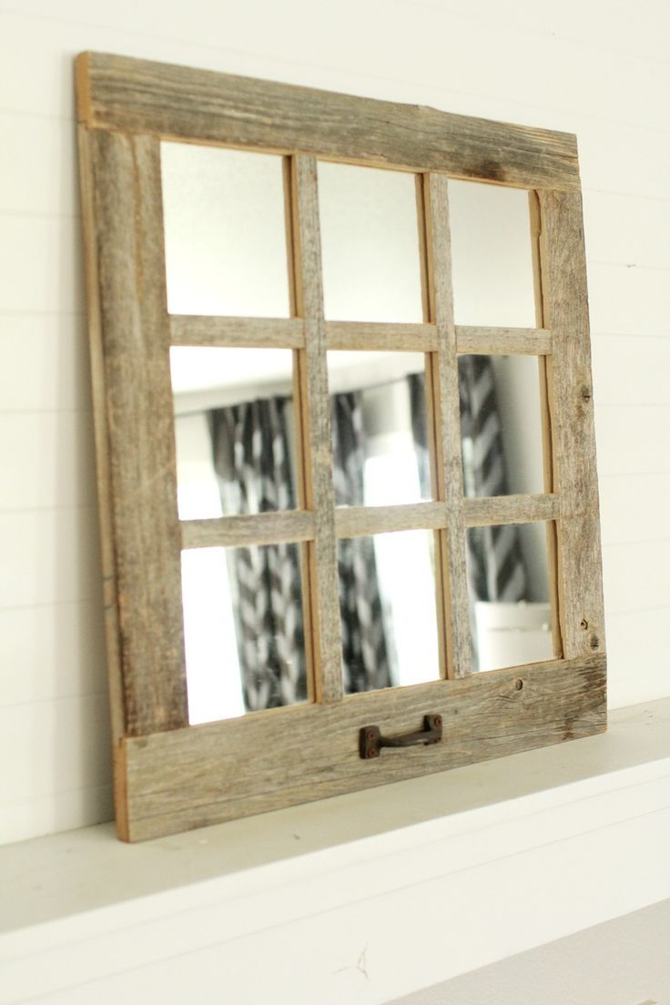 Windowpane Mirror | Window Mirror with Shutters | Window Pane Mirror Pottery Barn