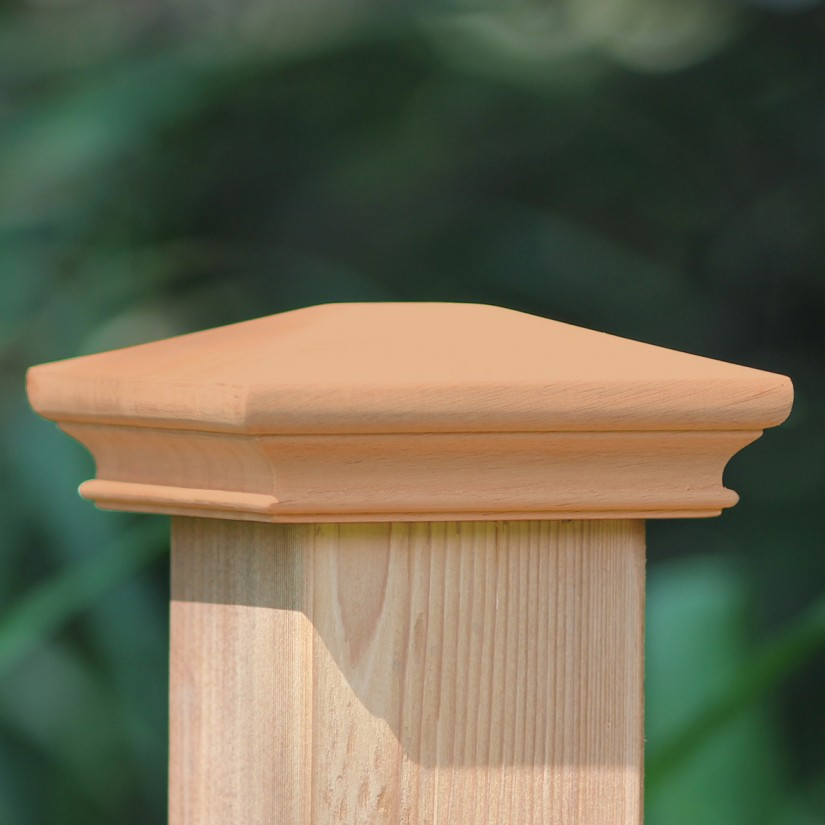 Wood Fence Post Caps 6x6 | 6x6 Solar Light Post Caps | Post Caps 6x6