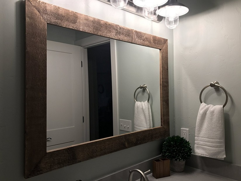 Wood Vanity Mirror | Reclaimed Wood Mirror | Allen Roth Mirrors