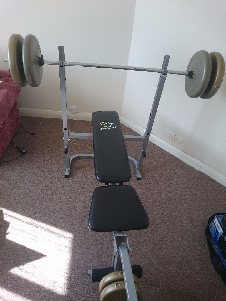Workout Bench and Weight Set | Weight Bench with Weights for Sale | Craigslist Weight Bench