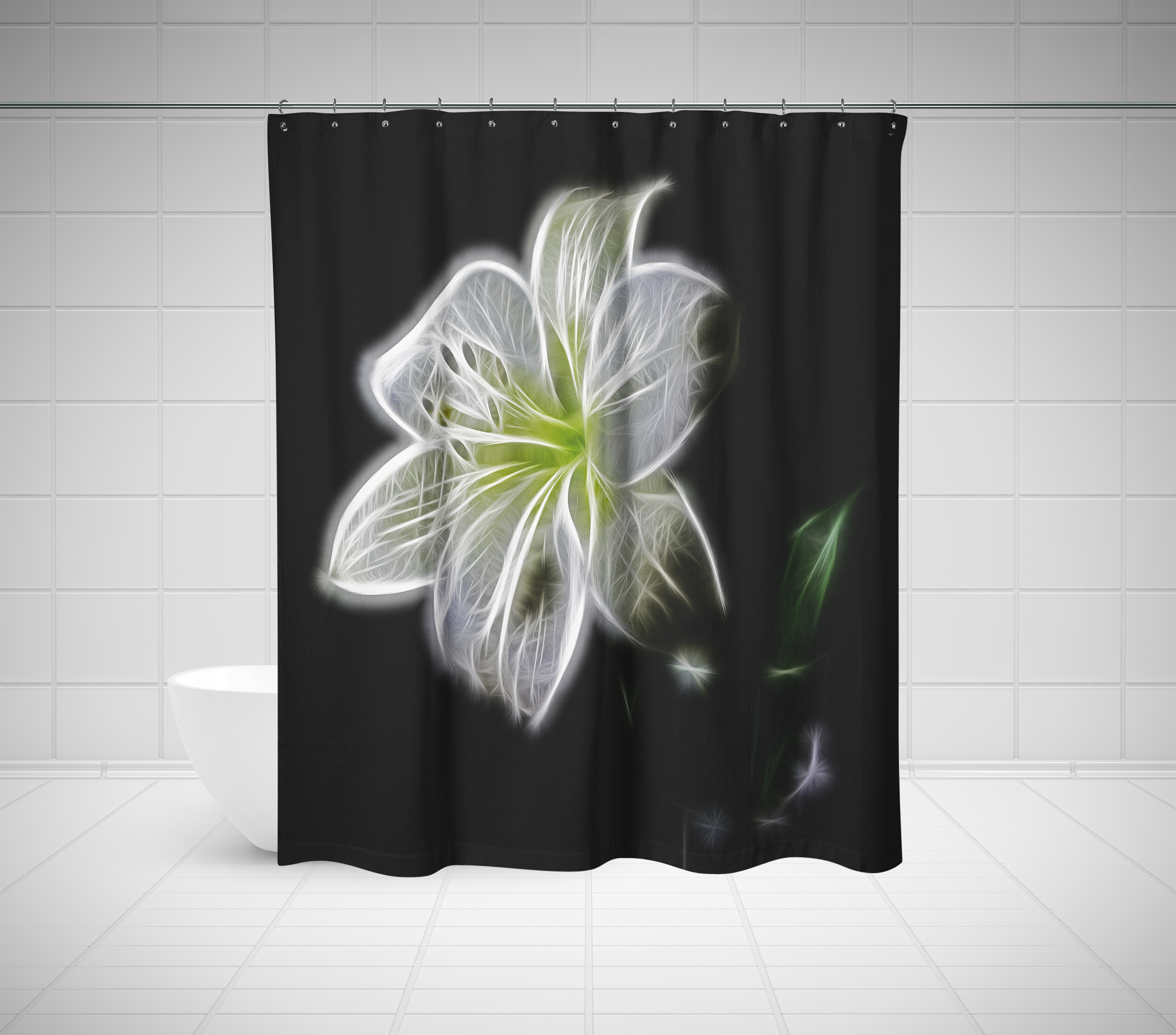 World Market Bird Shower Curtain | Floral Shower Curtain | Bright Floral Shower Curtain