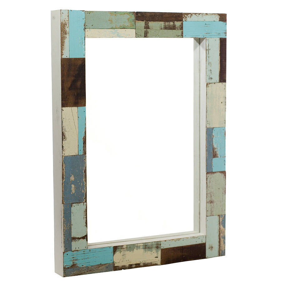 Wrought Iron Wall Mirror | Beech Wood Framed Mirrors | Reclaimed Wood Mirror