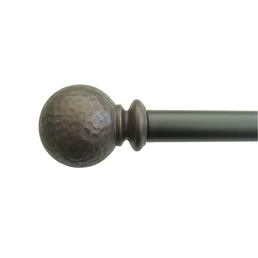 155 Curtain Rod | Glass Finial Curtain Rod | Bronze Curtain Rods