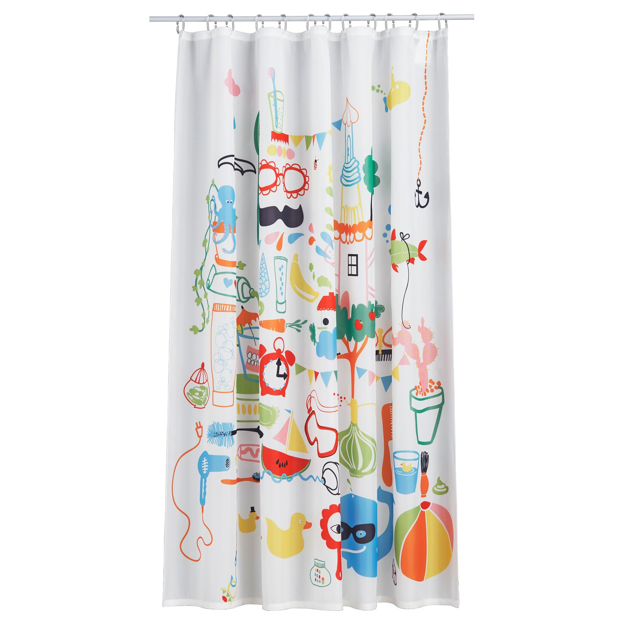 84 Shower Curtain Fabric | Ikea Shower Curtain Hooks | Ikea Shower Curtain