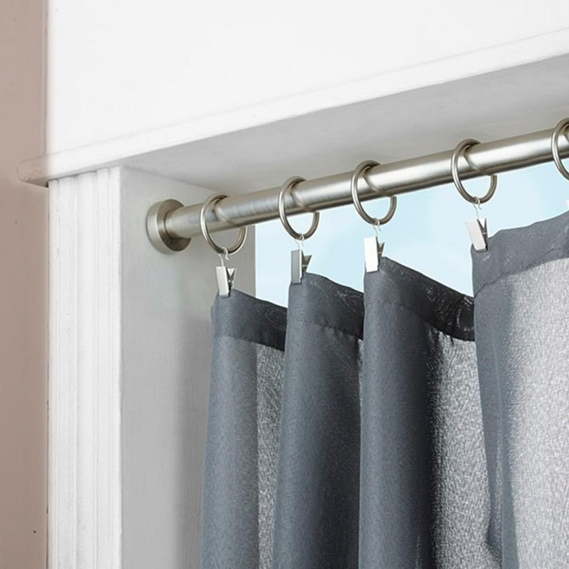 Adjustable Shower Rods | Bowed Shower Curtain Rod | Shower Curtain Tension Rod