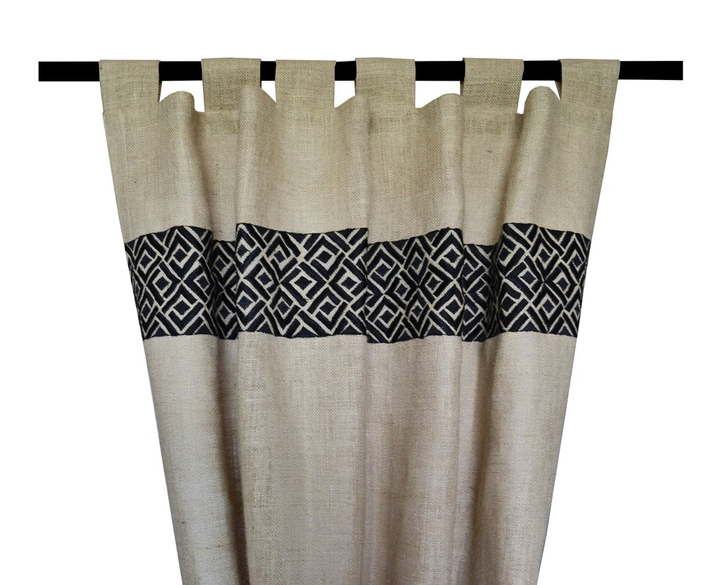 Anthropologie Knock Off Curtains | Bohemian Window Treatments | Embroidered Curtains
