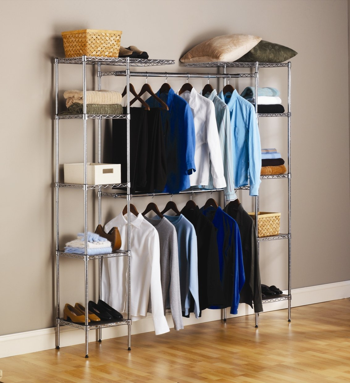 Armoire Clothing Storage | Free Standing Closet Wardrobe | Stand Alone Wardrobe