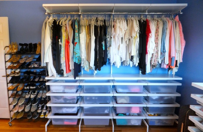 Armoire With Clothing Rod | Free Standing Closet Wardrobe | Stand Alone Coat Closet