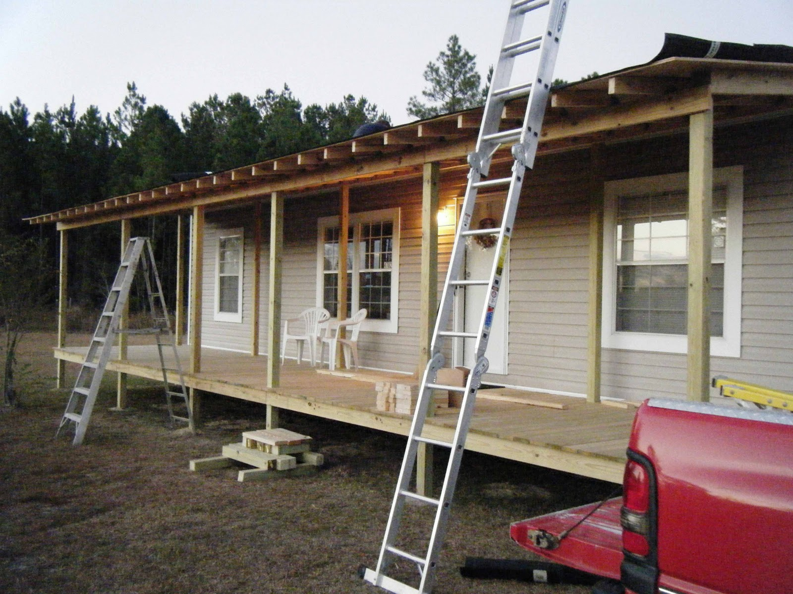 Inspiring Home Design Ideas with Mobile Home Porches: Back Porch Ideas For Houses | Mobile Home Steps Decks | Mobile Home Porches