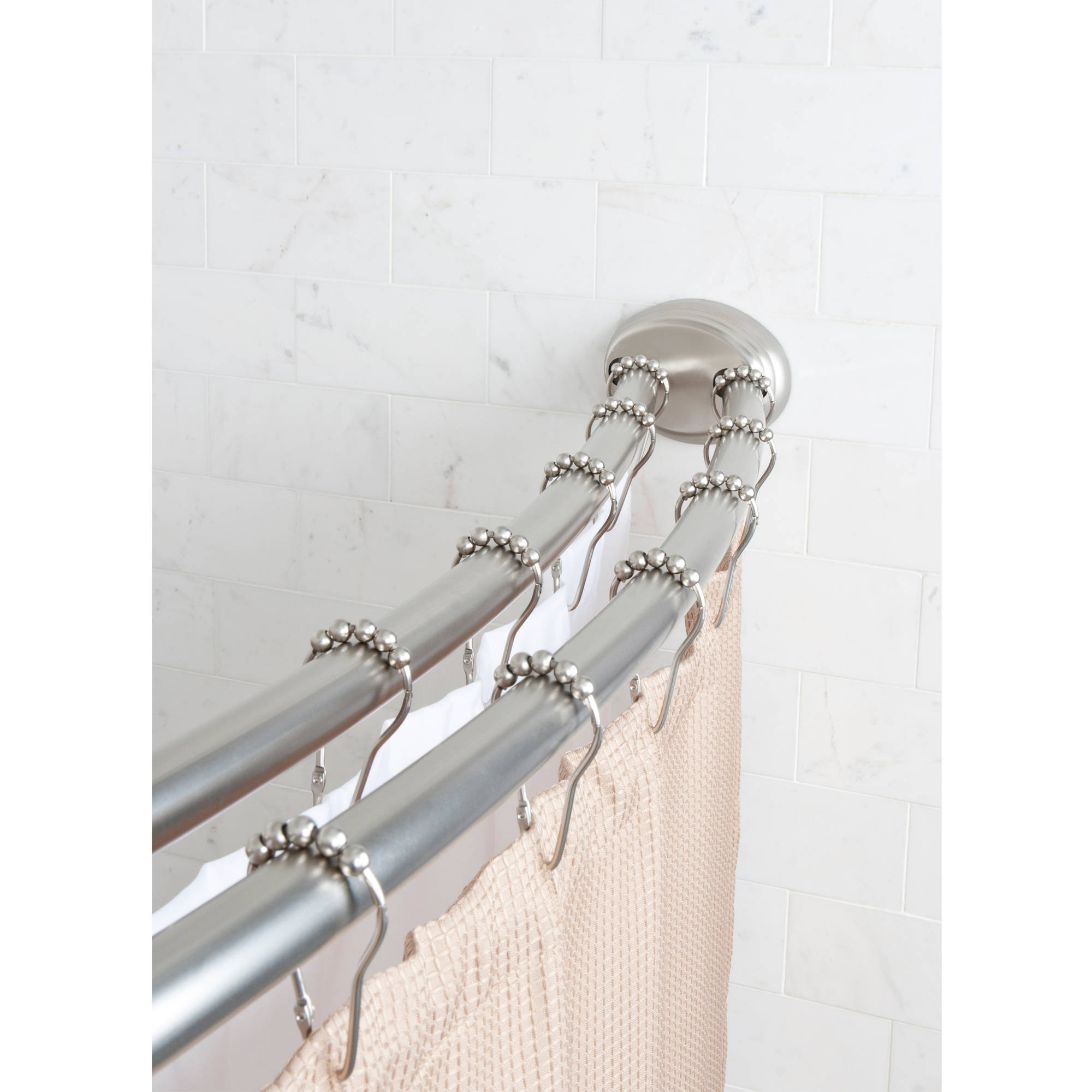 Exciting Bathroom Decor Ideas with Shower Curtain Tension Rod: Bathroom Curtain Rods | Tension Shower Curtain Rod | Shower Curtain Tension Rod