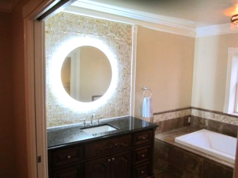 Bathroom Mirrors Lighted   Wall Mounted Led Lighted Makeup Mirror   Lighted Wall Mirror