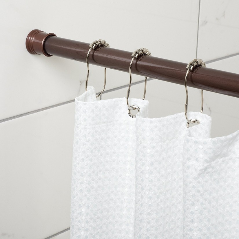 Bathroom Shower Curtain Rods | Shower Curtain Tension Rod | Shower Rod Extension